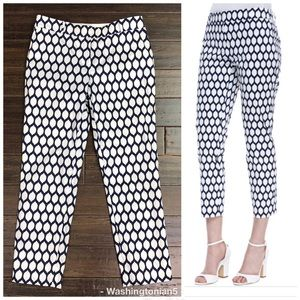 Kate Spade New York Jackie Lemon-Print Pants Sz 0